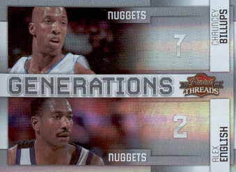2009-10 Panini Threads Generations Century Proof #14 Alex English/Chauncey Billups