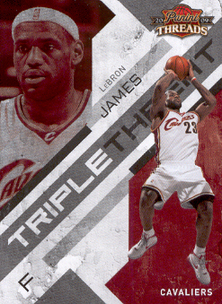 2009-10 Panini Threads Triple Threat #1 LeBron James