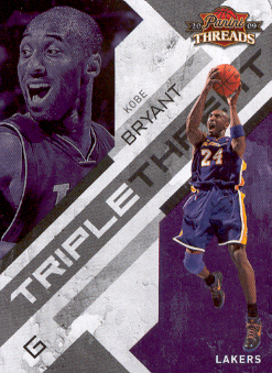 2009-10 Panini Threads Triple Threat #4 Kobe Bryant