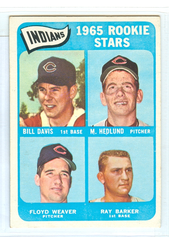 1965 Topps #546 Rookie Stars/Bill Davis RC/Mike Hedlund RC/Ray Barker/Floyd Weaver RC
