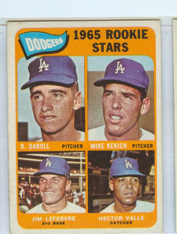 1965 Topps #561 Rookie Stars/Dennis Daboll RC/Mike Kekich RC/Hector Valle RC/Jim Lefebvre RC