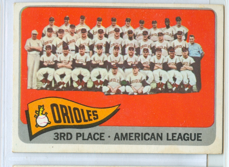 1965 Topps #572 Baltimore Orioles TC SP