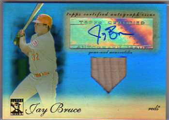 2009 Topps Tribute Autograph Relics Blue #JB4 Jay Bruce