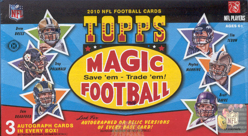 2010 Topps Magic NFL Football Trading Cards Box