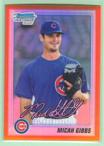 2010 Bowman Chrome Draft Prospects Orange Refractors #BDPP15 Micah Gibbs