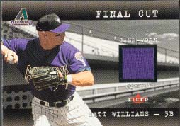 2001 Fleer Genuine Final Cut #20, Matt Williams