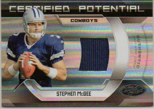 2009 Certified Certified Potential Materials #6 Stephen McGee