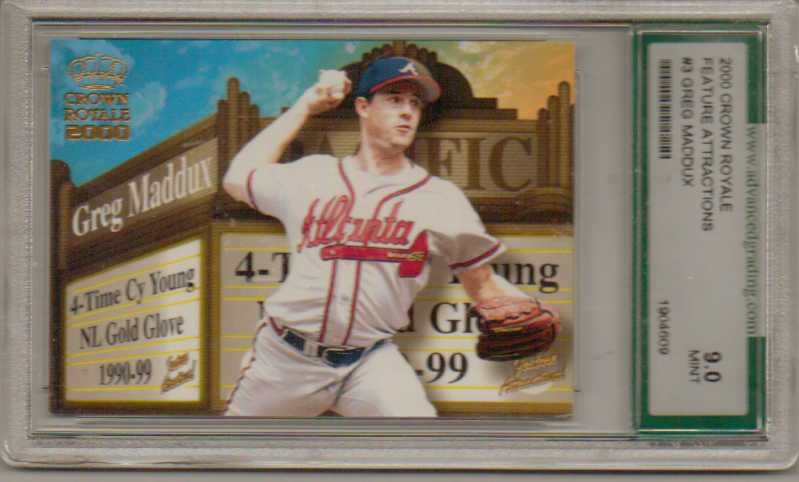 2000 Crown Royale Feature Attractions #3 Greg Maddux