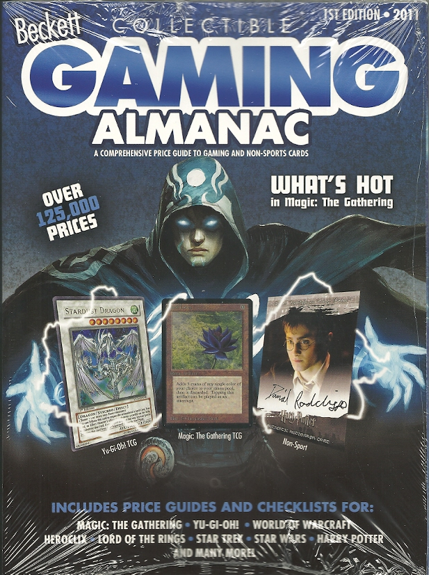 Beckett Collectible Gaming Almanac Price Guide #1 - 2011 Edition  (Brand New as of January 2011) (Price Guide To Gaming And Non-Sports Cards)
