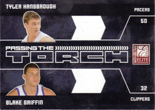 2009-10 Donruss Elite Passing the Torch #11 Tyler Hansbrough/Blake Griffin