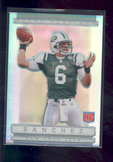 2009 Topps Platinum Rookie Refractors #133 Mark Sanchez /999 rc Rookie Card NM-MT (01)