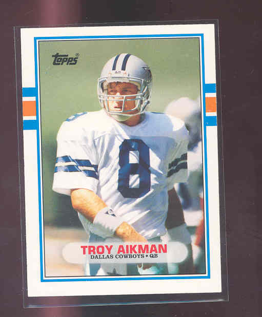 1989 Topps Traded #70T Troy Aikman rc Rookie Card NM-MT (01)