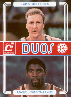 2010-11 Donruss Duos #2 Larry Bird/Magic Johnson