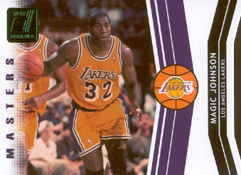 2010-11 Donruss Masters Die Cuts Emerald #1 Magic Johnson