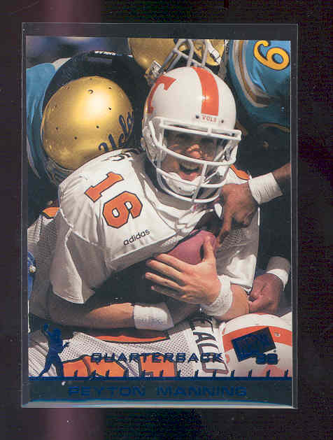 1998 Press Pass Pick Offs Blue #1 Peyton Manning
