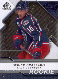 2008-09 SP Game Used #122 Derick Brassard RC