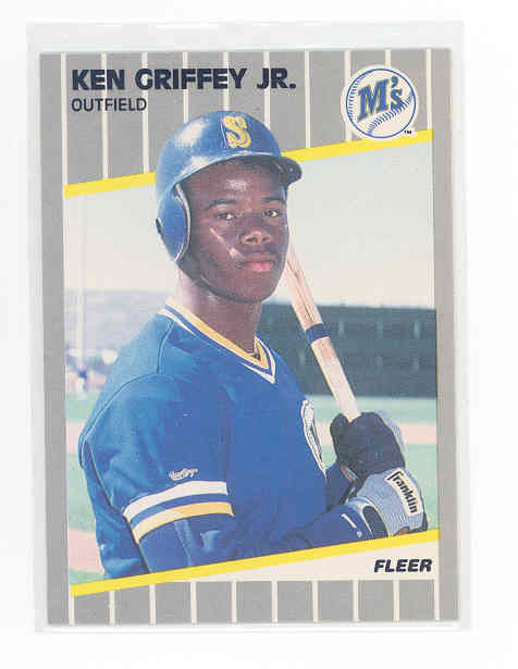 1989 Fleer #548 Ken Griffey Jr. rc Rookie card NM-MT