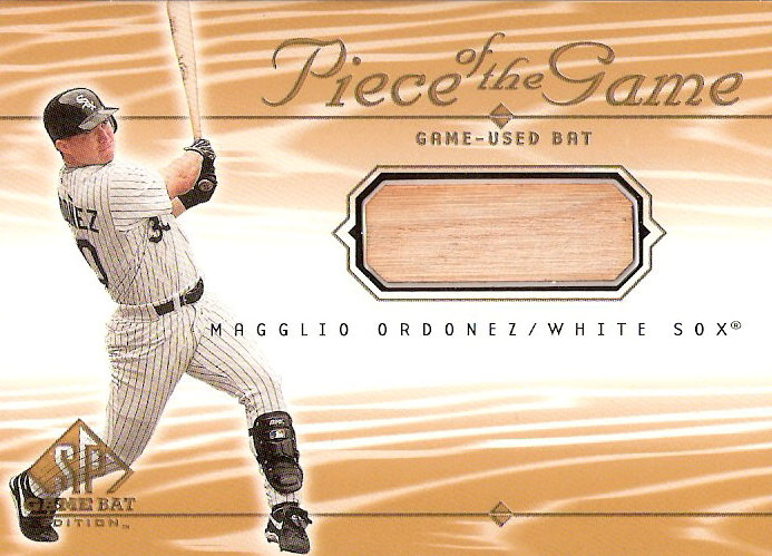 2001 SP Game Bat Edition Piece of the Game #MO Magglio Ordonez