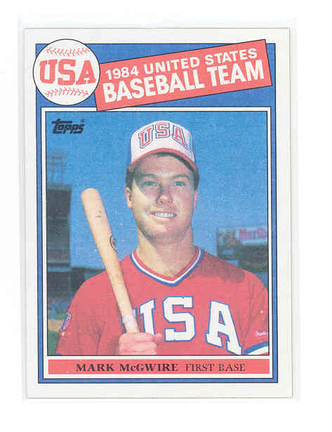 1985 Topps #401 Mark McGwire rc Rookie NM-MT (01)