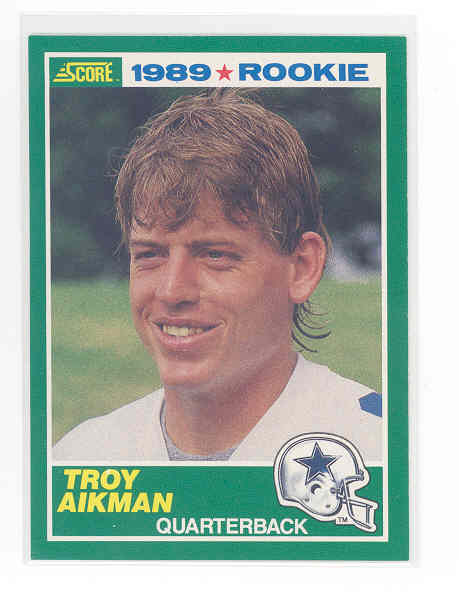 1989 Score #270 Troy Aikman rc rookie NM (01)