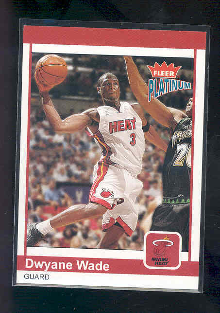 2003-04 Fleer Platinum #190 Dwyane Wade RC