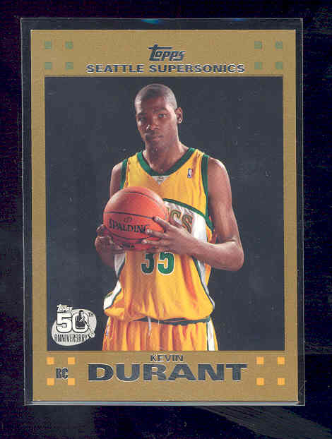 2007-08 Topps Gold #112 Kevin Durant