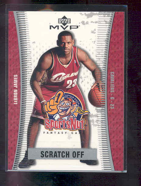 2003-04 Upper Deck MVP Sportsnut Fantasy #SN90 LeBron James