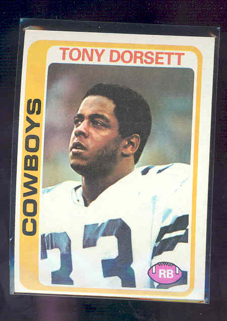 1978 Topps #315 Tony Dorsett rc Rookie Card EX-MT (01)