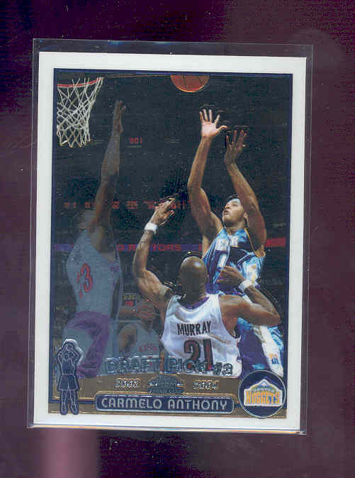 2003-04 Topps Chrome #113 Carmelo Anthony RC
