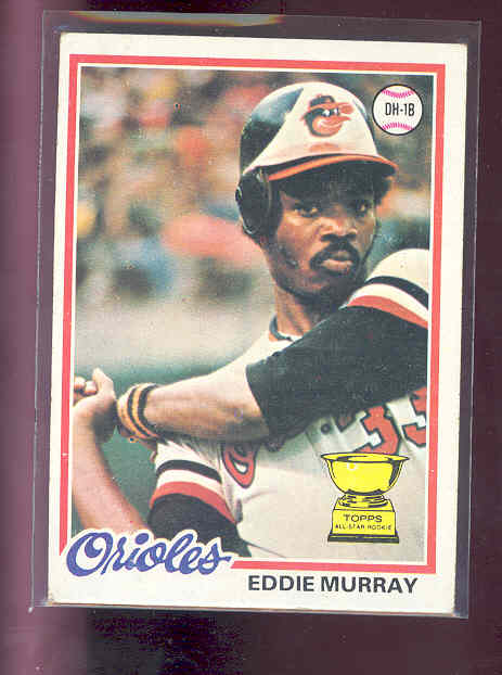 1978 Topps #36 Eddie Murray rc Rookie EX (02)