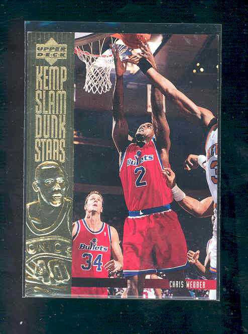 1994-95 Upper Deck Slam Dunk Stars #S18 Chris Webber
