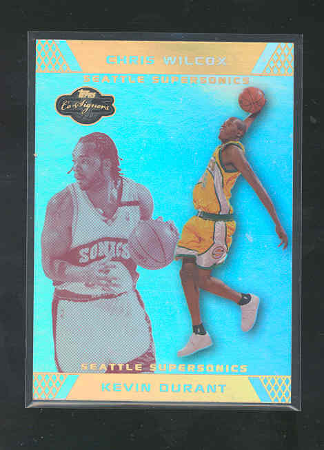 2007-08 Topps Co-Signers Gold Red Foil #88A Kevin Durant/Chris Wilcox