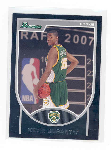 2007-08 Bowman #111 Kevin Durant RC rookie card 1836/2999 NM-MT (01)