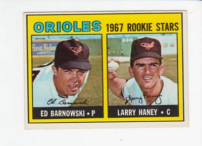 1967 Topps #507 Rookie Stars/Ed Barnowski/Larry Haney RC