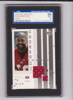 2000 UD Graded Jerseys #GJR Jerry Rice
