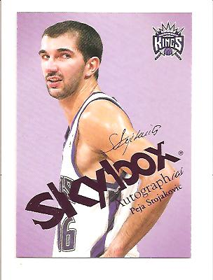 2003-04 SkyBox Autographics Insignia Purple #20 Peja Stojakovic