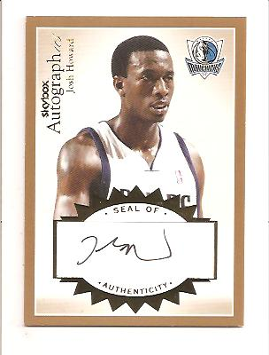 2003-04 SkyBox Autographics Autographs Gold #JH Josh Howard