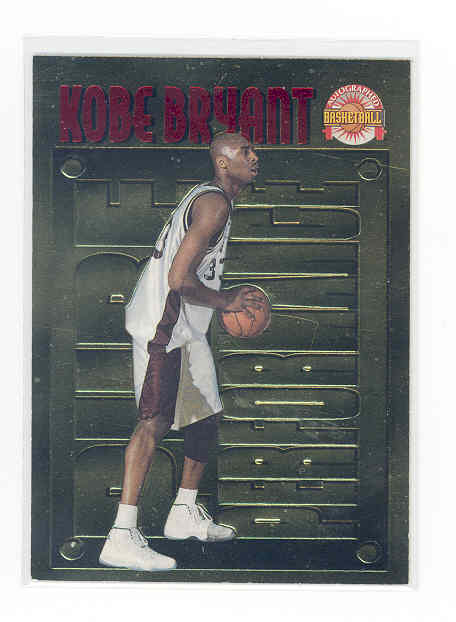 1996 Score Board Autographed BK Pure Performance Gold #PP14 Kobe Bryant
