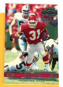 2002 Playoff Honors Player of the Week Panelist #12 Priest Holmes