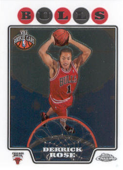 2008-09 Topps Chrome #181 Derrick Rose RC front image