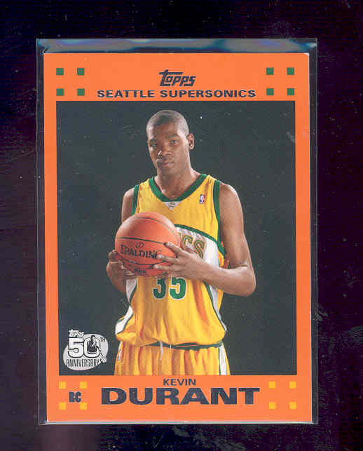 2007-08 Topps Rookie Orange Set #2 Kevin Durant rc Rookie Card