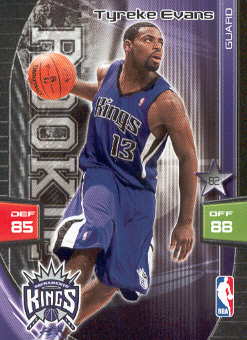 2009-10 Adrenalyn XL #88 Tyreke Evans RC