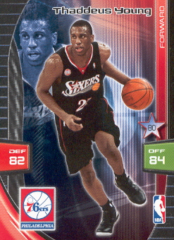 2009-10 Adrenalyn XL #299 Thaddeus Young
