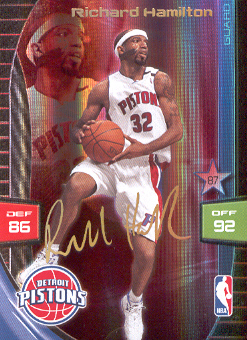 2009-10 Adrenalyn XL Extra Signature #10 Richard Hamilton
