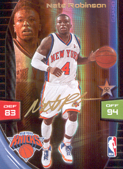 2009-10 Adrenalyn XL Extra Signature #24 Nate Robinson
