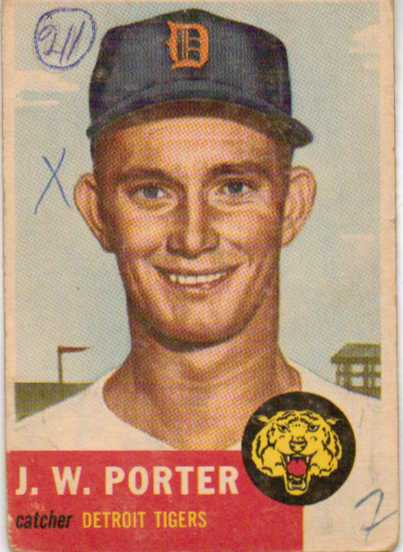 1953 Topps #211 J.W. Porter RC front image