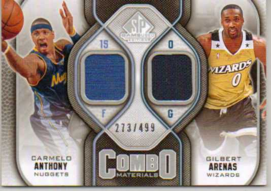 2009-10 SP Game Used Combo Materials #CMAA Carmelo Anthony/Gilbert Arenas