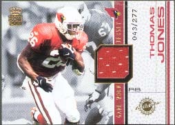 2001 Crown Royale Game Worn Jerseys #1, Thomas Jones /277
