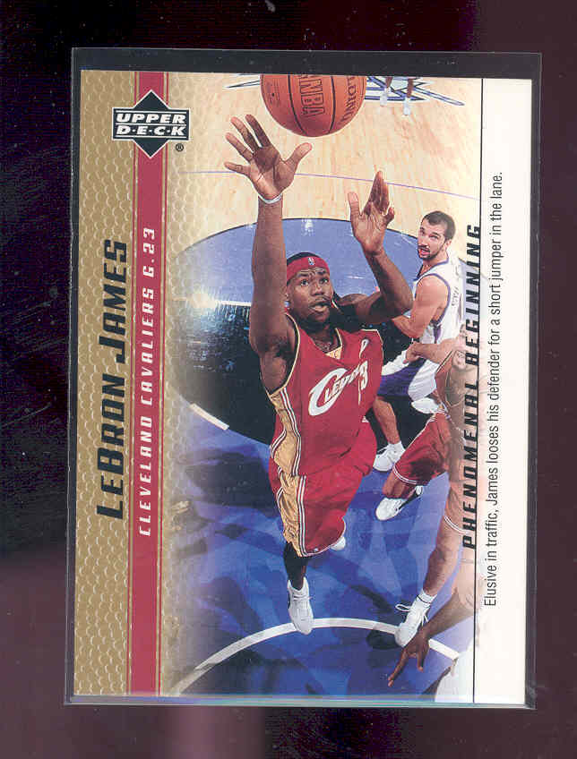 2003-04 Upper Deck Phenomenal Beginning LeBron James Gold #6 LeBron James/Elusive in traffic