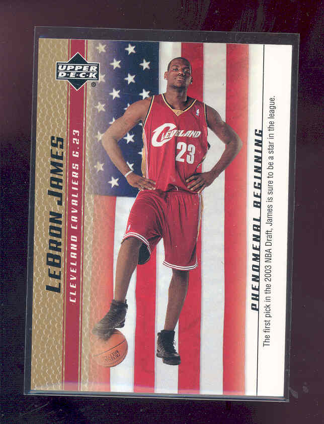 2003-04 Upper Deck Phenomenal Beginning LeBron James Gold #20 LeBron James/The first pick